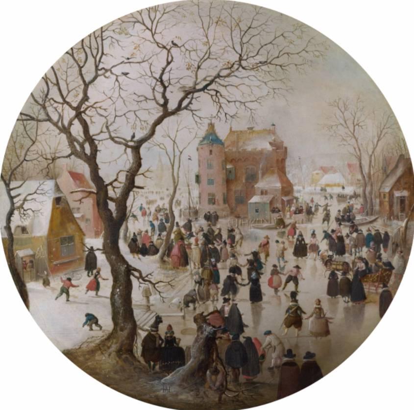 Hendrick Averkamp, winter in Nederland